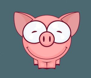 Kevin Pig Piggy Makes Bank PLR
