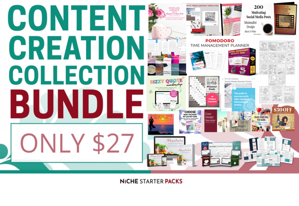 Content Creation Collection Bundle PLR2Go