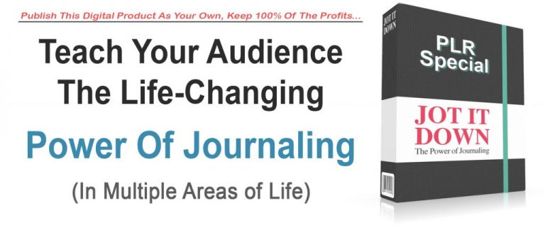 Tools For Motivation Power Of Journaling PLR2Go